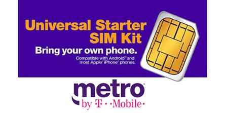 Metro by T-Mobile SIm Card Kit